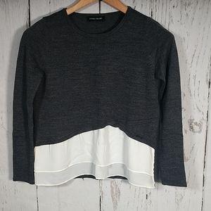 Ivanka Trump Multi-Fabric Layered Sweater
